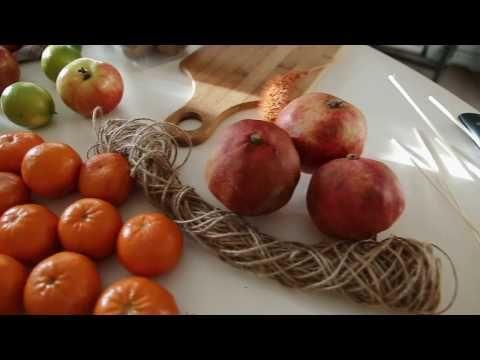 (32) Как делать фруктовый букет, овощной букет. Мк по фруктовому букету. - YouTube