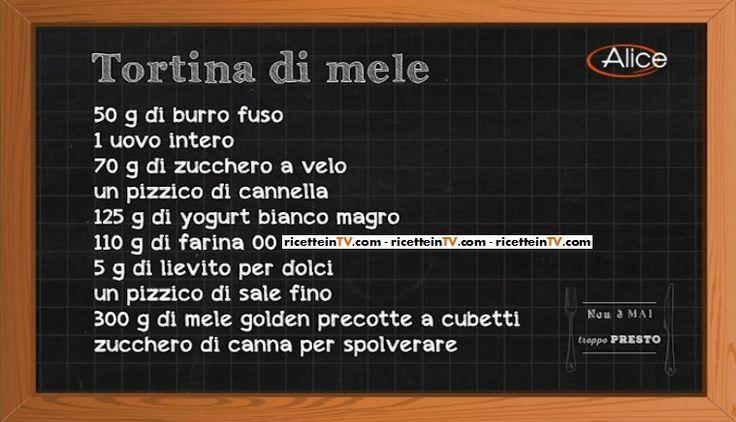 Non è mai troppo presto   Ricetta tortina di mele di Fabio Campoli