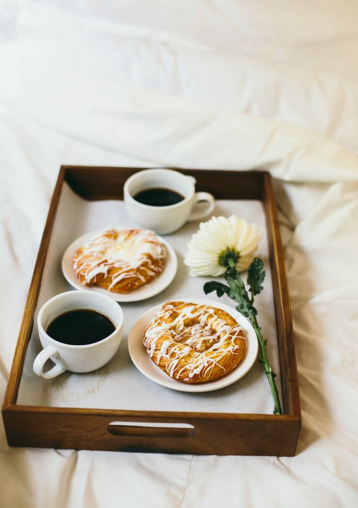 Who wouldn't love being surprised with pastries in bed. Be sure to include a fragrant flower. Inspired by the movie Burnt in theaters October 30th!