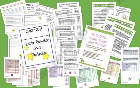 Data Binder and Portfolio Common Core Standards Pack Grade 3