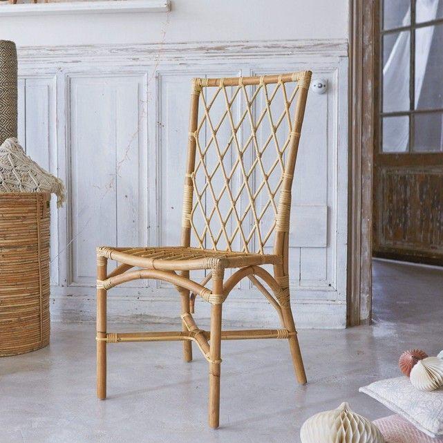 Decouvrez Cette Chaise A Croisillons En Rotin Naturel Vernis De La