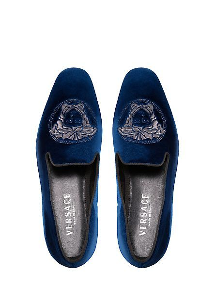 Medusa Velvet Slippers. Versace LoafersVersace SlippersVersace Mens ...