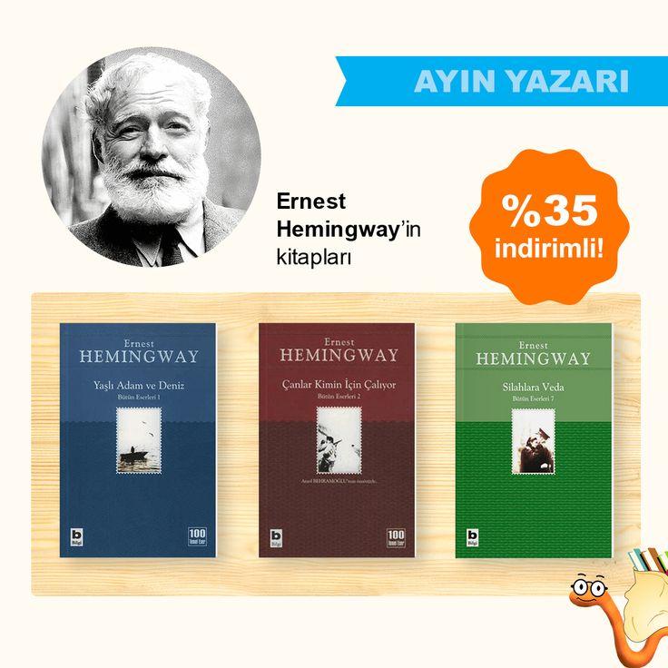 Ayın Yazarı Ernest Hemingway'in Kitapları %35 İndirimli!