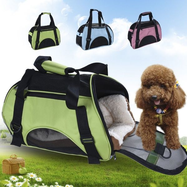Large Comfortable Pet Carrier Oxford Soft Sided Cat Dog House