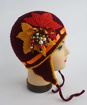 Ravelry: GOLDEN AUTUMN crocheted hat with applique pattern by Crochet- atelier- without the earflaps & embellishment?