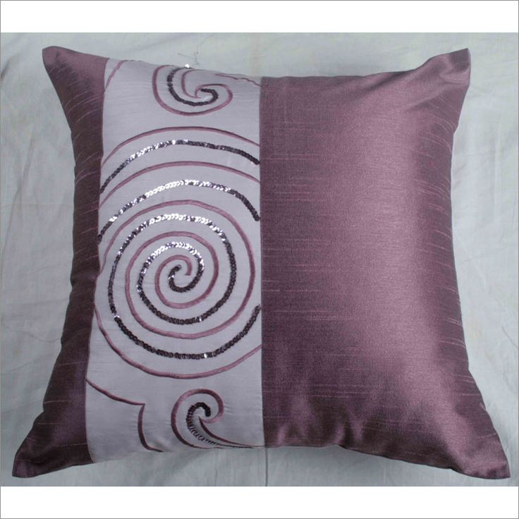 T-3024 Lavender Spiral Decorative Pillow - Set of 2 By Rizzy Home T-3024