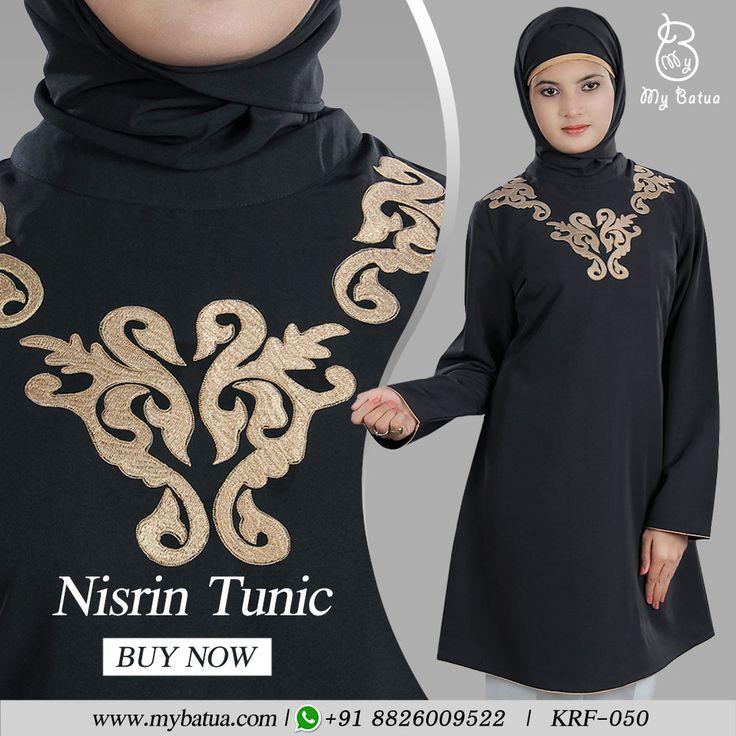 Looking for an elegant formal wear for work or office? Here's Nisrin Tunic in black with embroidery at neck.  #nsrintunic #officewear #black #designertunic #dailywear #alineatunic #shorttunic #contemporary #casualtunic #formaltunic #tunic #embroidertunic #fashion #muslimwear #style #clothing #picofday #summercollection #mybinsta #sisterhood #modestfashion #womenclothing #ootd #yaz #islamicclothing #womendress #dress #muslimwear #instafashion #hijabfashion #modesty