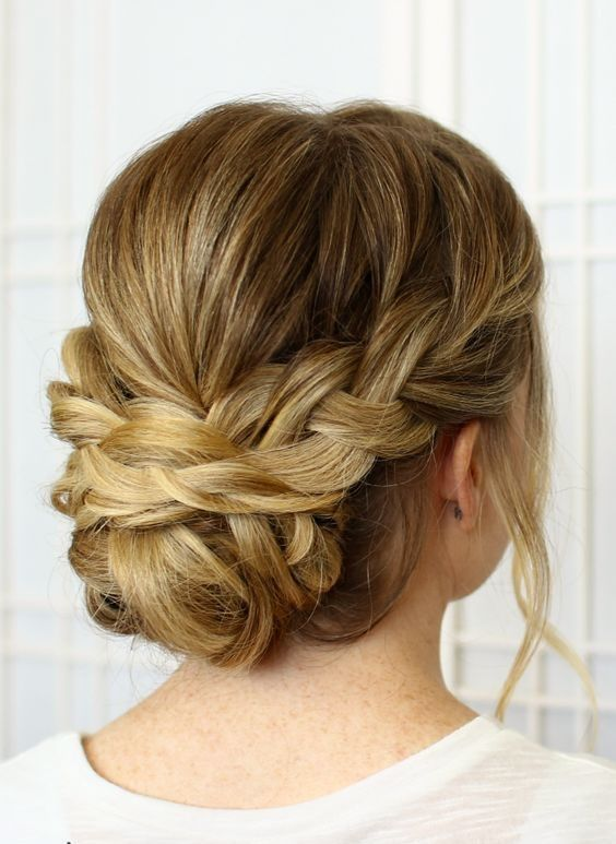 Love this chic braided up-do!