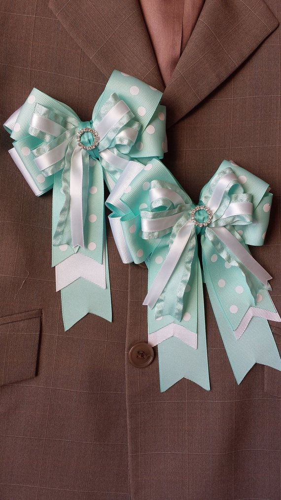 Pair of Petite Boutique Horse Show Bows w/ by ShortStirrupBling, $25.00