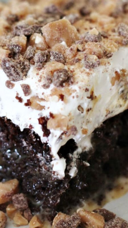 Better Than Anything Cake ~ Combines all things great into the PERFECT gooey dessert!
