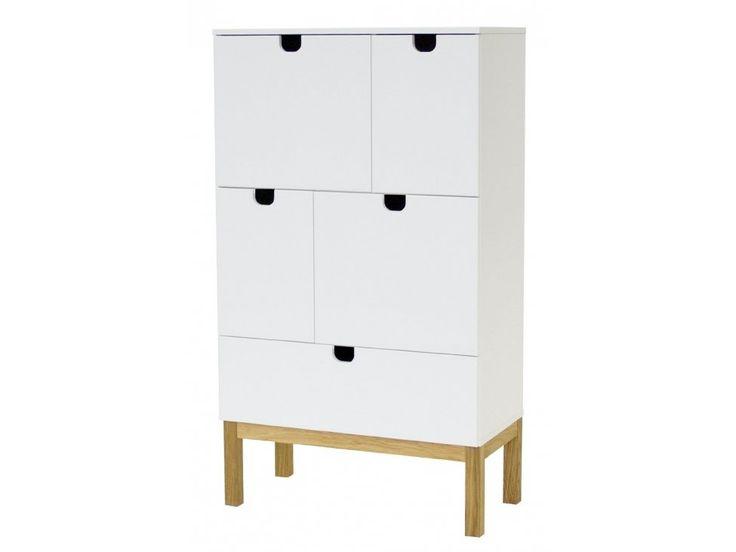 Komoda Kubus III — Komody Tenzo — sfmeble.pl  #scandinavian  #style  #interior  #homedesign #furniture #white