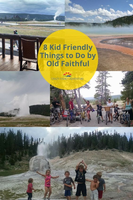 Old Faithful in Yellowstone National Park is a great place to take your family. And don't miss all the other cool things there are to do around Old Faithful!