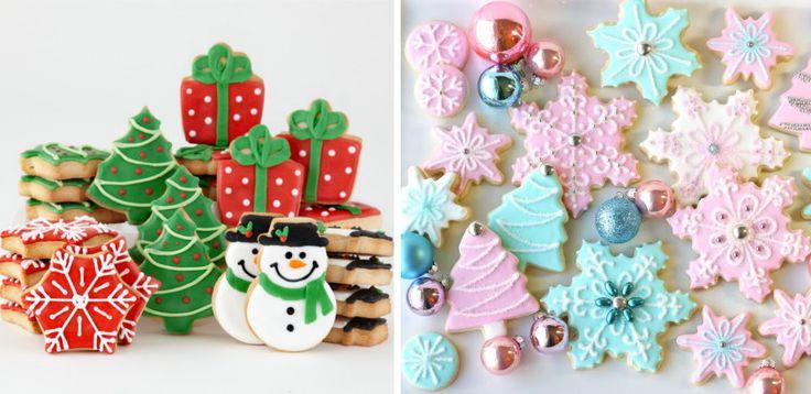 Cum sa decorezi prajiturile de Craciun - 25 idei pentru turta dulce - http://ideipentrucasa.ro/cum-sa-decorezi-prajiturile-de-craciun-25-idei-pentru-turta-dulce/