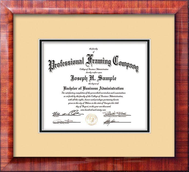 17 best Custom Document and Certificate Frames images on Pinterest ...