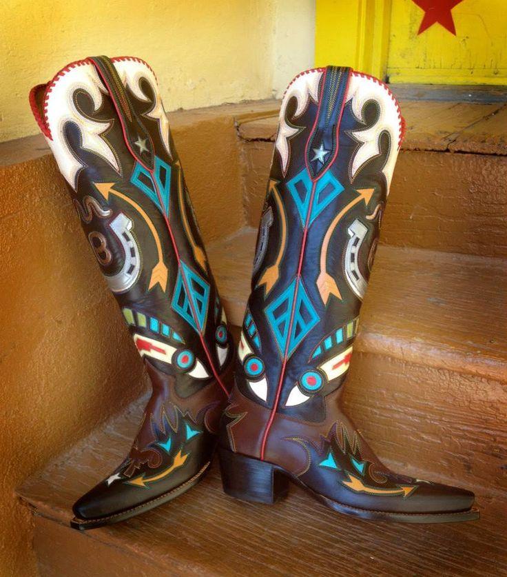 Custom Rocketbuster Boots, TX