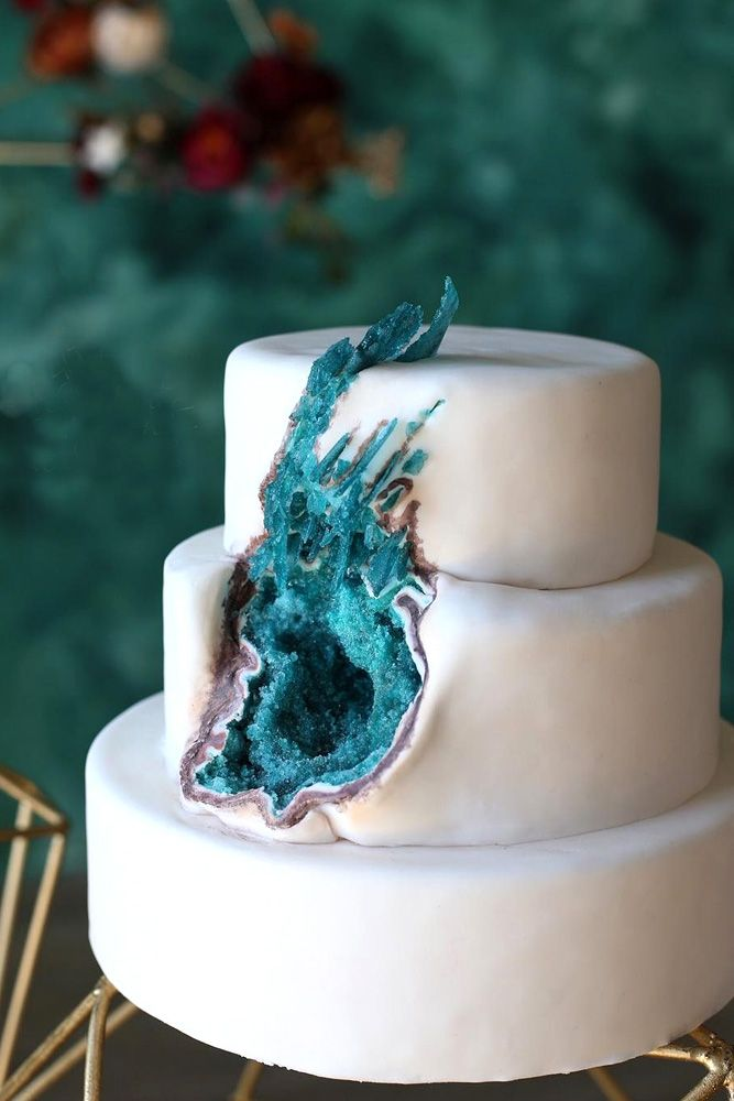 Be in trend! Geode Wedding Cakes For Stylish Event ❤ See more…