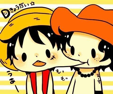Ah ah ah ! Je trouve cette image trop mignonne ! Luffy me fait penser à un dango. XD