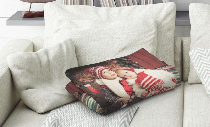 Uw foto als een gepersonaliseerde deken Bijzonder zacht en knuffelig