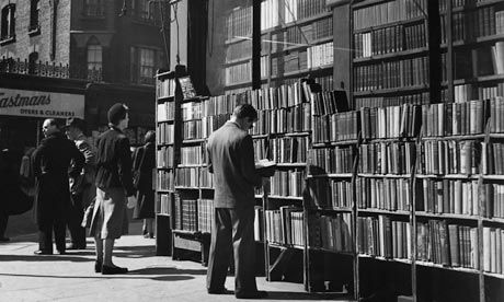 Secondhand bookshop on Charing Cross Road, London, in 1951. Photograph: John Chillingworth/Hulton-Deutsch Collection