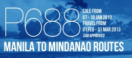 Save more for your summer by booking today  Take advantage of our promo and fly to Boracay – or another preferred destination in the Visayas region – from February to March, and plan your out-of-town trips as early as today! Promo also available for the Cebu Hub routes.    EXPRESS SALE:  Manila to Visayas Routes (Calbayog, Catarman, Caticlan, Dumaguete, Kalibo, Roxas, Tacloban)  Cebu Routes (Bacolod, Butuan, Cagayan de Oro, Caticlan, Davao, General Santos, Iloilo, Kalibo, Legazpi, Ozamiz…