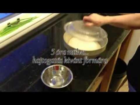 Kovászos kenyér készitése, gyúrás, dagasztás nélkül - YouTube