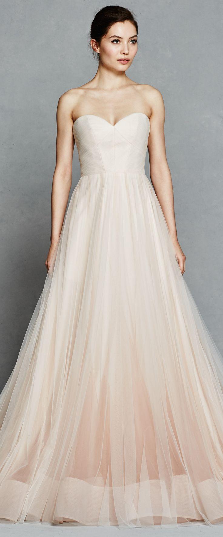 65 best Blush/pink wedding gowns images on Pinterest | Wedding ...