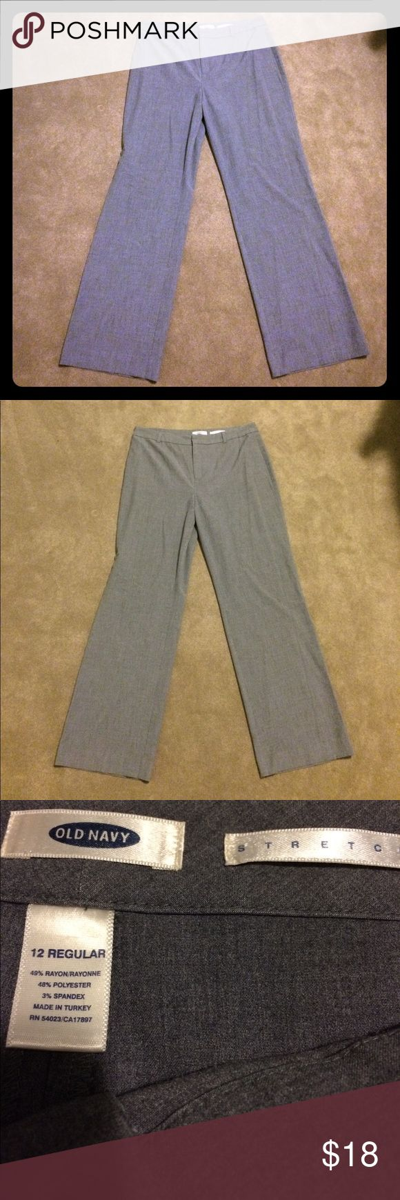 Old Navy grey stretch dress pants Make an offer! No trades. Bundle and save! Old Navy Pants Trousers