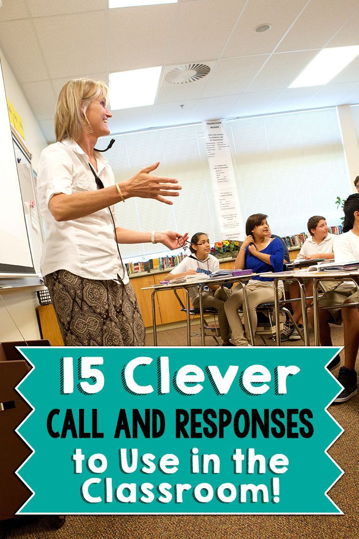 Remember teachers banging on desks to get students' attentions? Not anymore! Here's 15 clever call and responses to get your students' attention in a good way!: