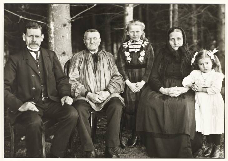 August Sander 'Three Generations of the Family', 1912