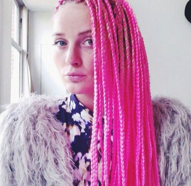 hot pink box braids | Hair. | Pinterest | Pink, Box braids ...