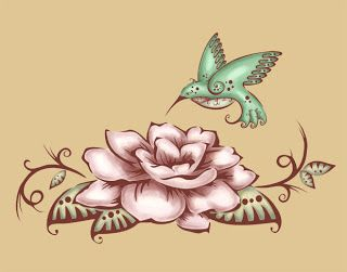 Gardenia/humming bird tattoo.. will absolutely be getting this!