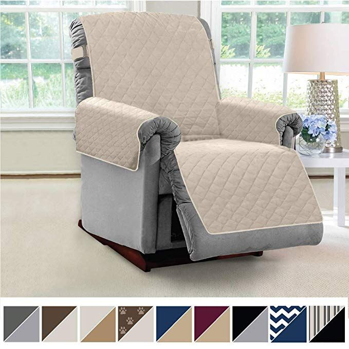 Amazon Com Mighty Monkey Premium Reversible Recliner Slipcover Seat Width To 28 Inch Furniture Protector 2 Inch Elastic Recliner Slipcover Furniture Recliner