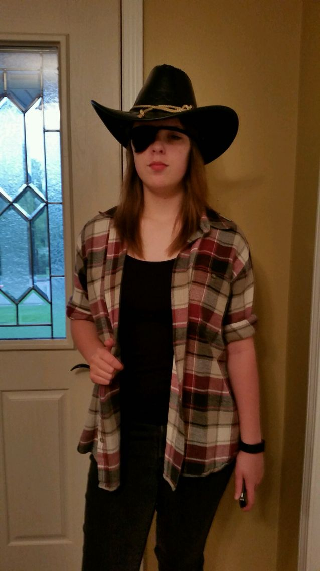 This is me in my gender bent Carl (walking dead) costume DIY. What do you all think of it?