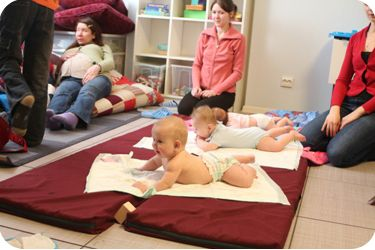 """During """"Second Wind""""´s session we teach mothers how to give a massage therapy to their children. Most of young single mothers do not know how to touch their babies, so this is really helpful to them"""