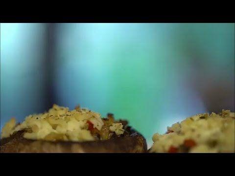 Cogumelos recheados... a cozinha verde