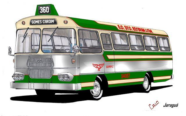 Will.Bus: Caio Jaraguá / Mercedes-Benz LPO 344 - (SP) Empresa de Ônibus Santo Estevam Ltda. (Década de 60)