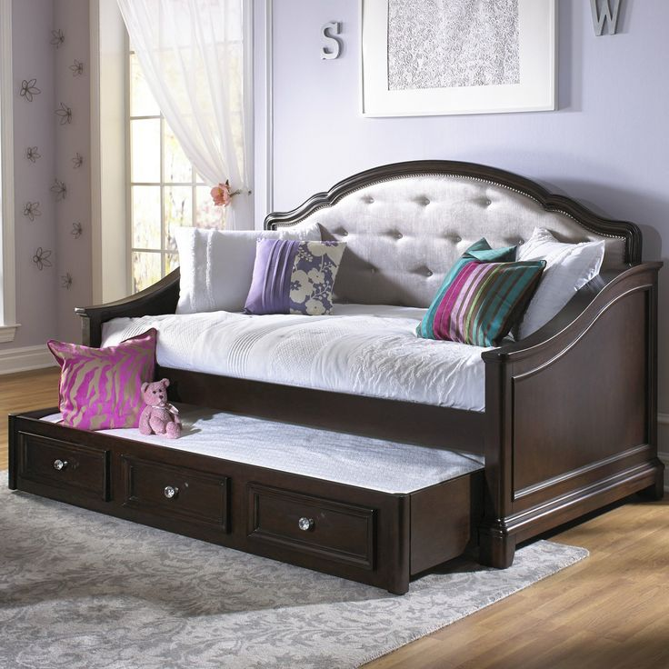 Brown Kids Daybed Trundle Design Ideas