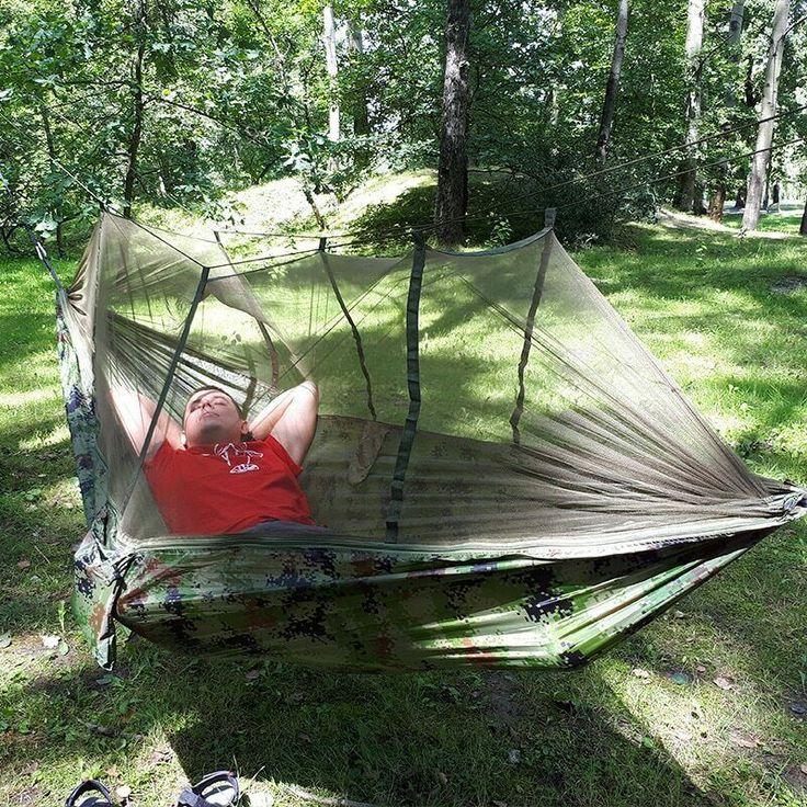 Outdoor Camping Parachute Hammock W/Mosquito Net, Light