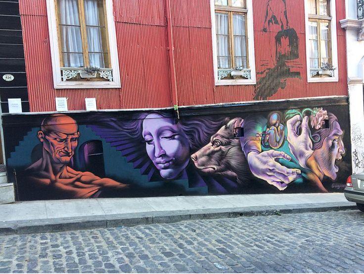 Diego Arroyo Eresmas in Calle Urriola, Valparaíso, Chile, 2017