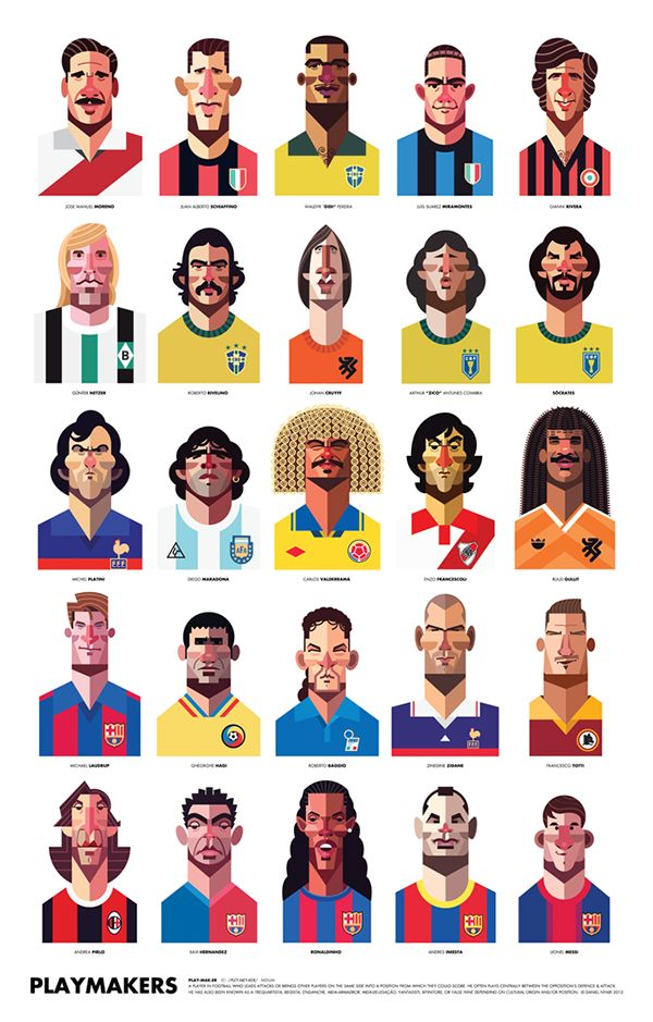 25 of the greatest magicians and playmakers in the history of football/soccer