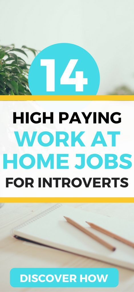 The 14 BEST work from home jobs for introverts. Find a high paying job and make money from home today.