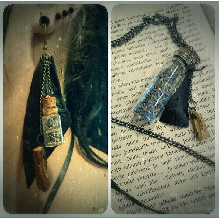 Calming lavendula and palo santo jewelry by MagaLacrima