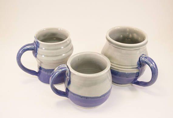 $22.40 was--->$28.00 You save $5.60 (20%)   #handmade #purple and #white #porcelain #ceramic #coffeecups #teamugs #hotchocolatecup. #wheel thrown #pottery. Los Angeles. #birthdaygift, #giftsforhome. #giftsforher #homedecor #kitchenanddining #tableware #handmadeceramics #blackfriday #sale #cybermonday #etsy #etsysale #etsyshop #shopsmall