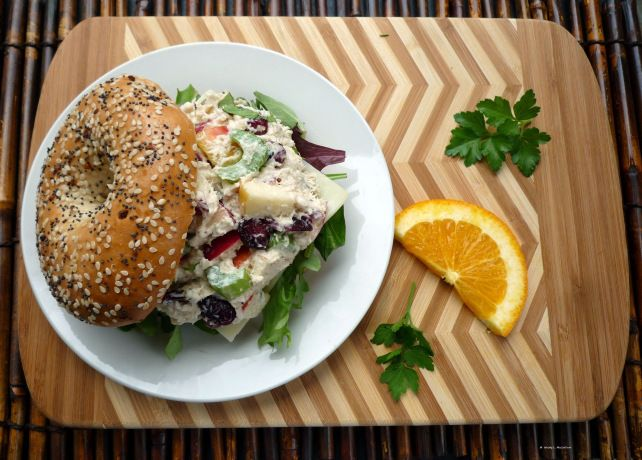 Chicken Salad with cranberries, apples, celery and basil by The McCallum's Shamrock Patch