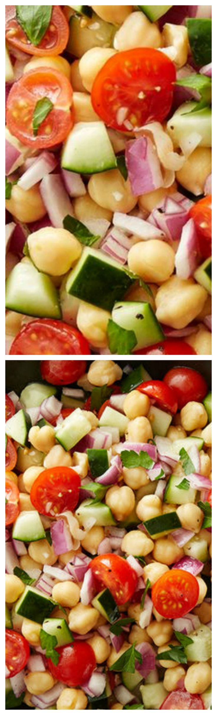Easy Garbanzo Bean Salad ~ This super simple salad is a hit at BBQs and makes a nice addition to any lunch or dinner.