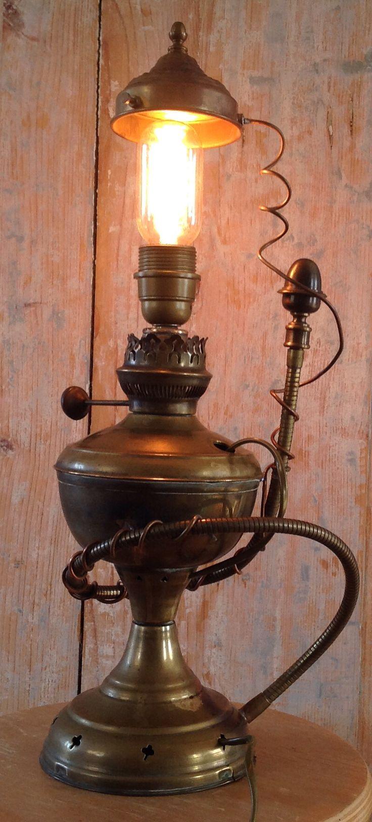 Steampunk olielamp - 95,-