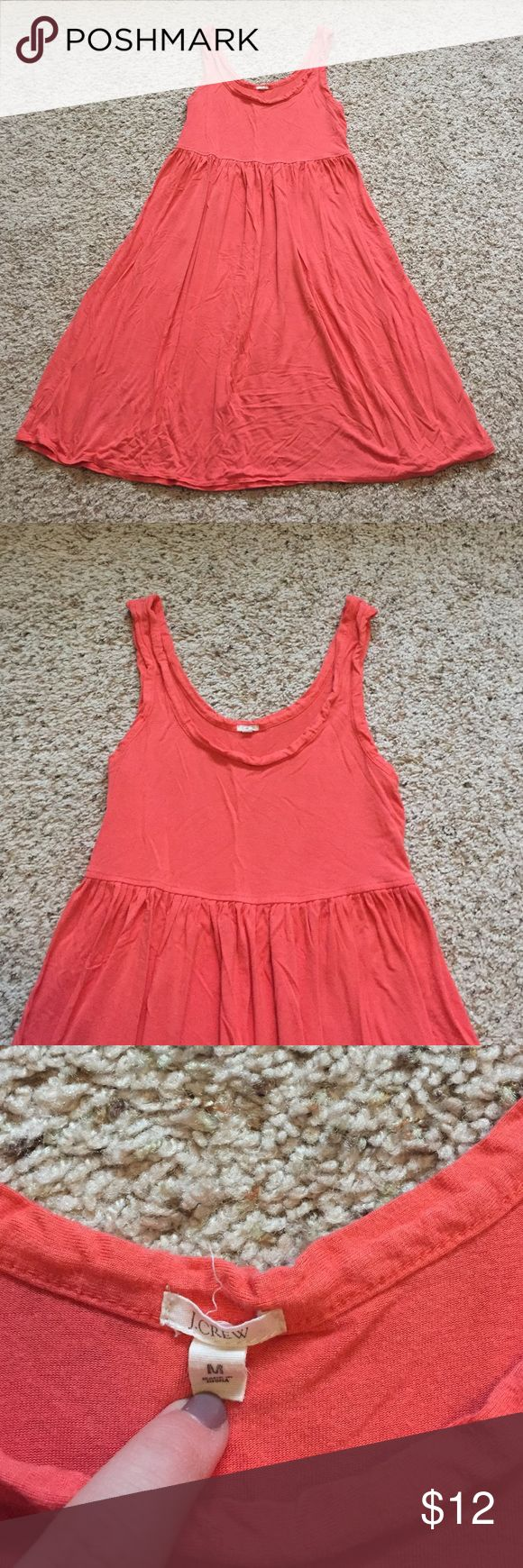 J crew coral sun dress size medium J Crew coral sundress. Size medium. Has been worn, some pilling, still super cute and soft, casual wear! J. Crew Dresses Mini