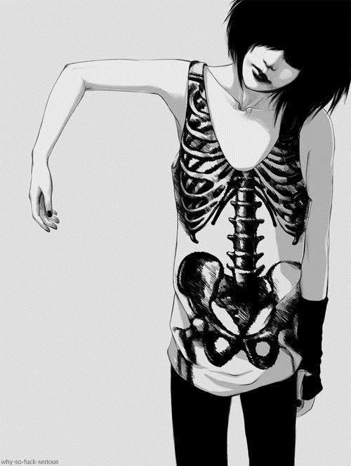 Emo Girl #fashion #illustration