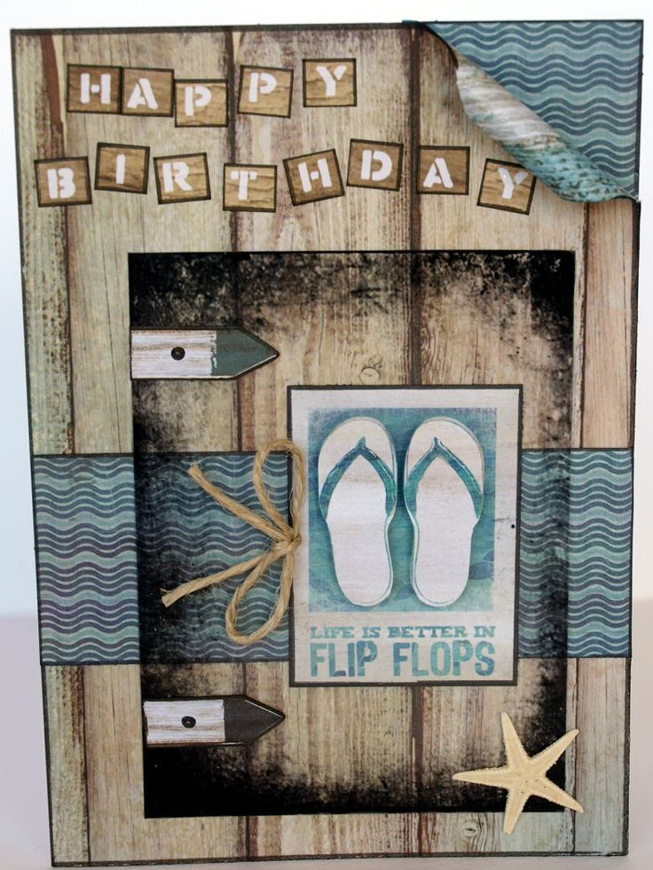 """""""Flip Flops"""" Card by Collette Mitrega DT for Kaisercraft (Sandy Toes llection) - Cards - Clean & Simple."""