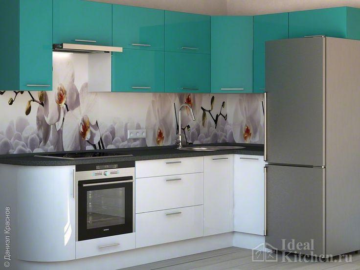 Бирюзовая кухня в интерьере - фото, сочетания цветов